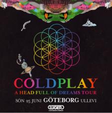 Superbandet Coldplay kommer inta Göteborg och Ullevi nästa sommar
